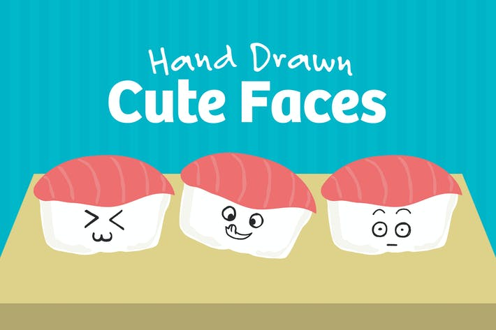 Thumbnail for 101 Hand Drawn Cute Faces