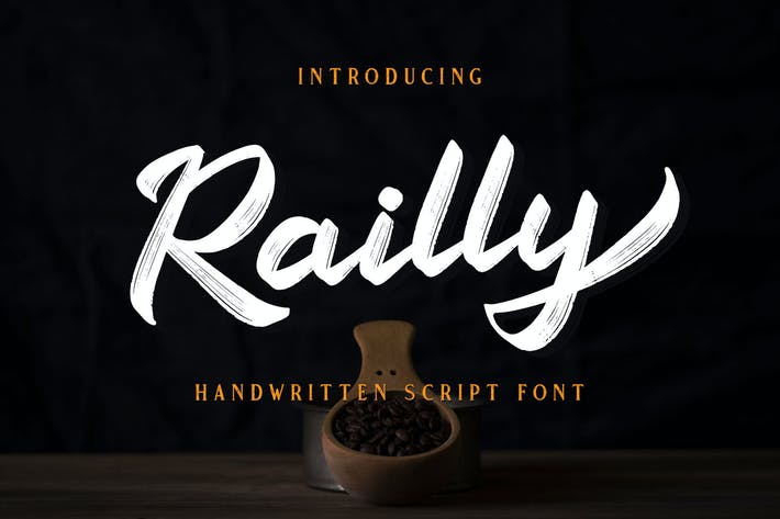 Thumbnail for Railly - Handwritten Script Font