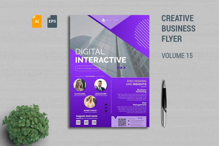 Thumbnail for Creative Business Flyer Template Vol. 15