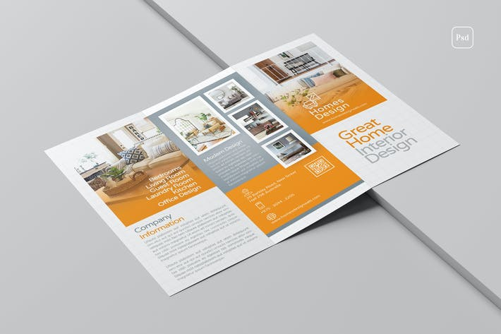Cover Image For Interior Design Trifold Brochure