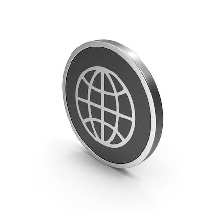 Серебряная веб-иконка