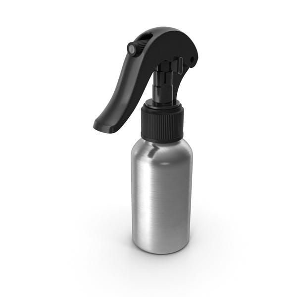 Спрей бутылка Алюминий с черным распылителем Top 50 мл