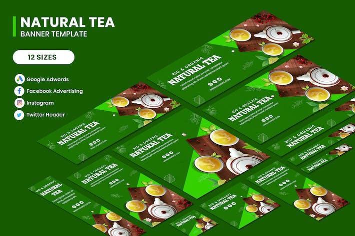 Thumbnail for Natural Tea Google Adwords Banner Template