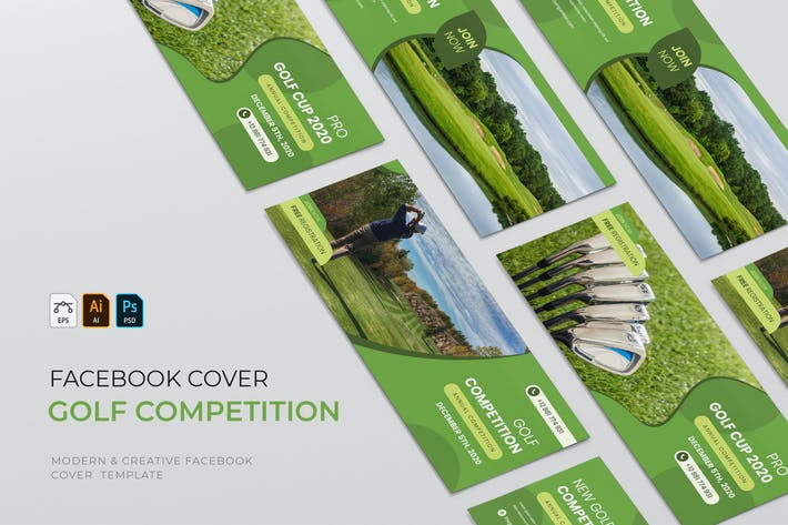Thumbnail for Golf Competition | Facebook Cover