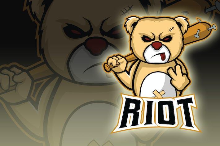 Riot Bear Esport Logo