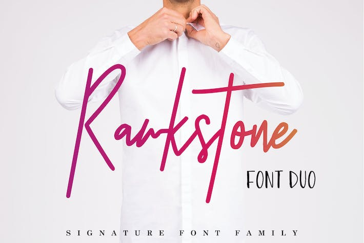 Thumbnail for Rawkstone Font Duo