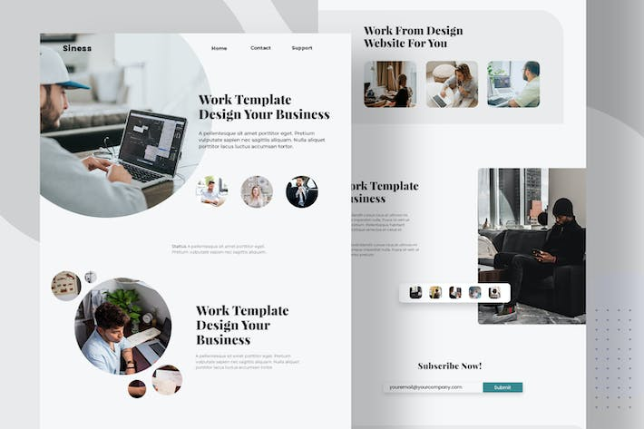 Thumbnail for Work Template Business - Email Newsletter