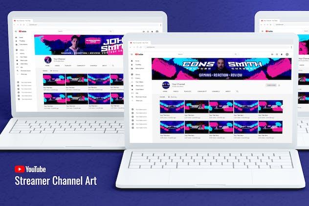 Game Streamer Youtube Channel Art