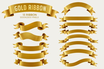 Banner-Set mit Goldband