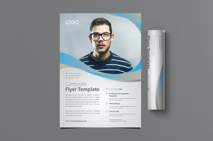 Thumbnail for Corporate Flyer Template Set