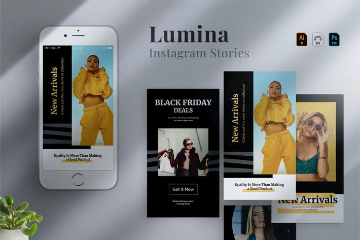 Thumbnail for Lumina - Instagram stories Template 03