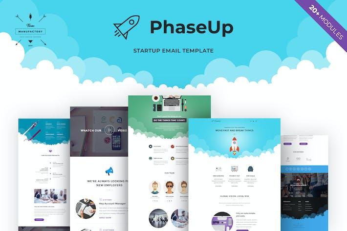 Thumbnail for PhaseUp - Startup E-newsletter Template