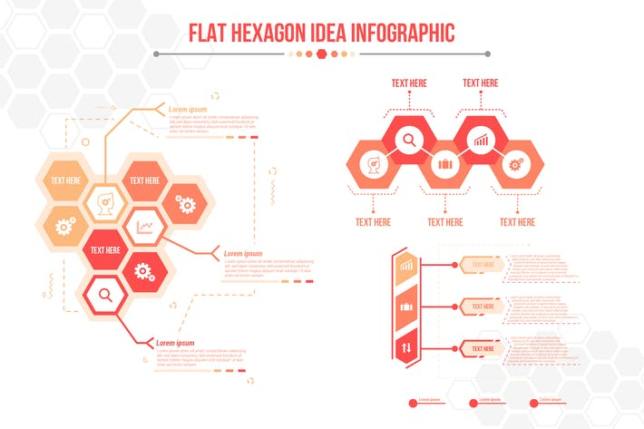 Thumbnail for Flat Hexagon Idea - Infographics