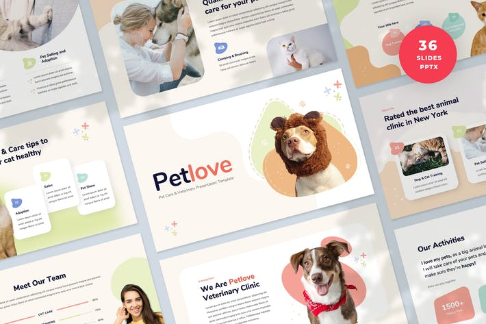 Pet Care Presentation PowerPoint Template