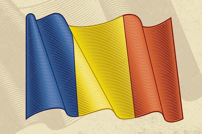 Vintage Flag Of Romania