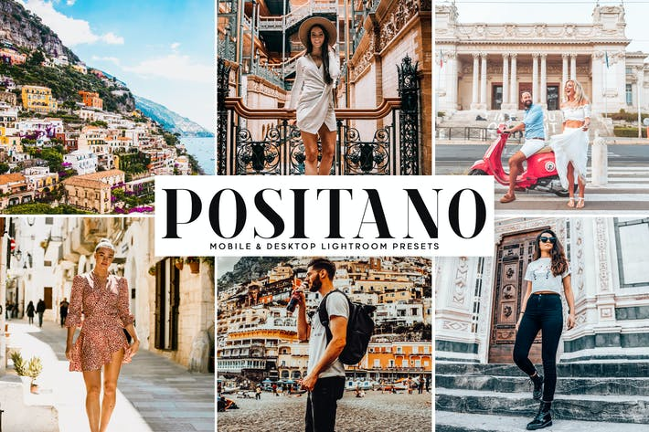 Thumbnail for Positano Mobile & Desktop Lightroom Presets