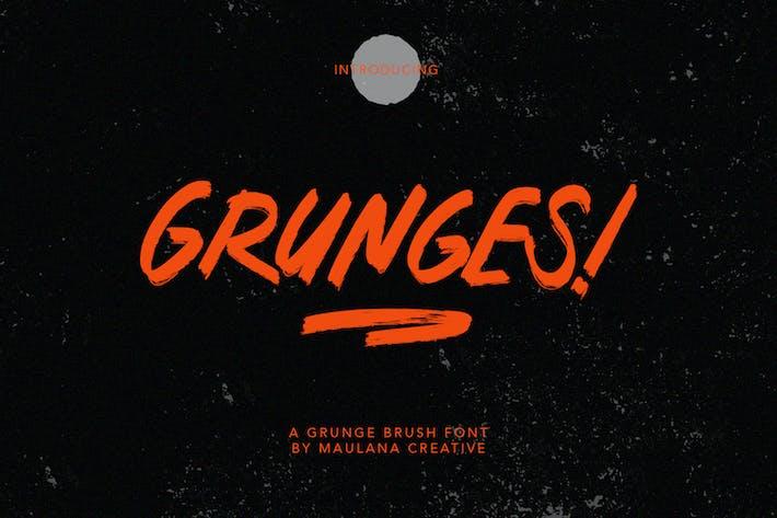 Grunges Grunge Brush Font