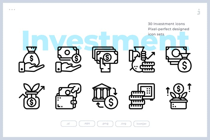 Thumbnail for 30 Investment Icons