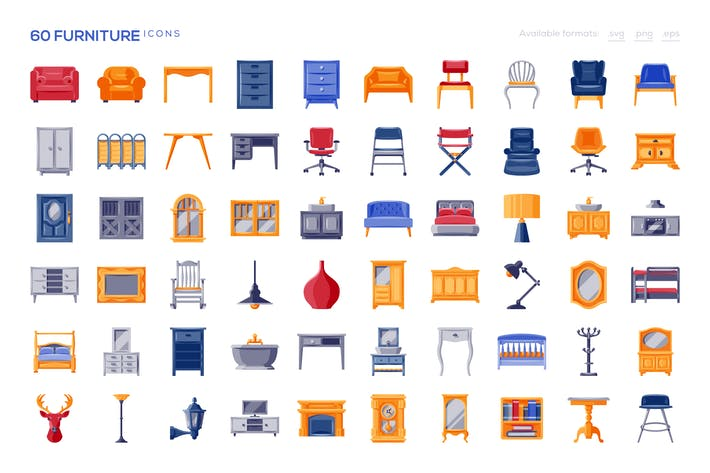 Thumbnail for 60 Furniture Icons