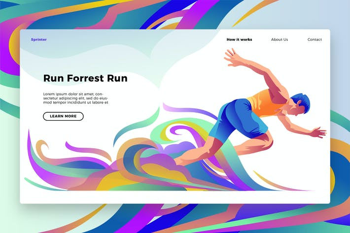 Thumbnail for Run Forrest -  Banner & Landing Page