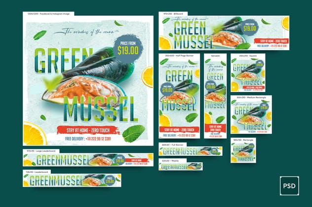 Seafood Banners Ad