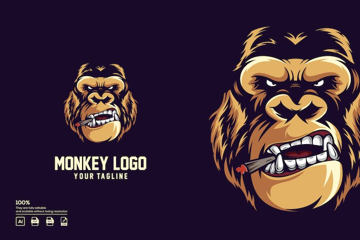 Thumbnail for Monkey logo design