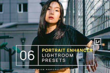 6 Portrait Enhancer Lightroom Presets + Mobile