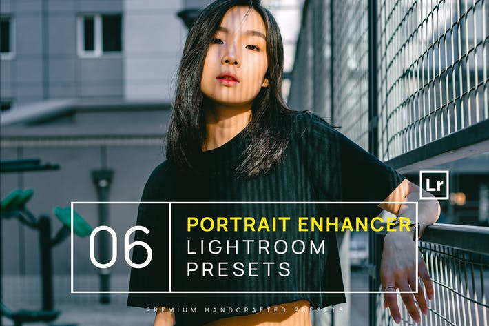 Thumbnail for 6 Portrait Enhancer Lightroom Presets + Mobile