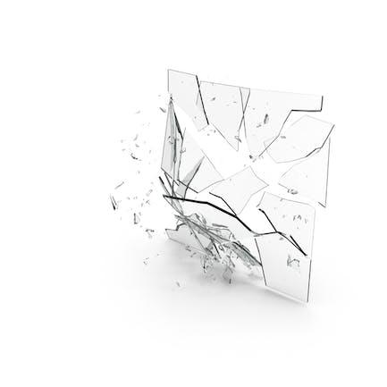 Placa de cristal roto.