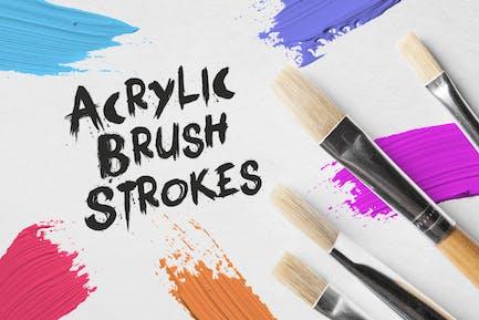 30 Acrylic Brush Strokes