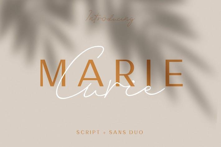 Thumbnail for Marie Curie - Sans & Script