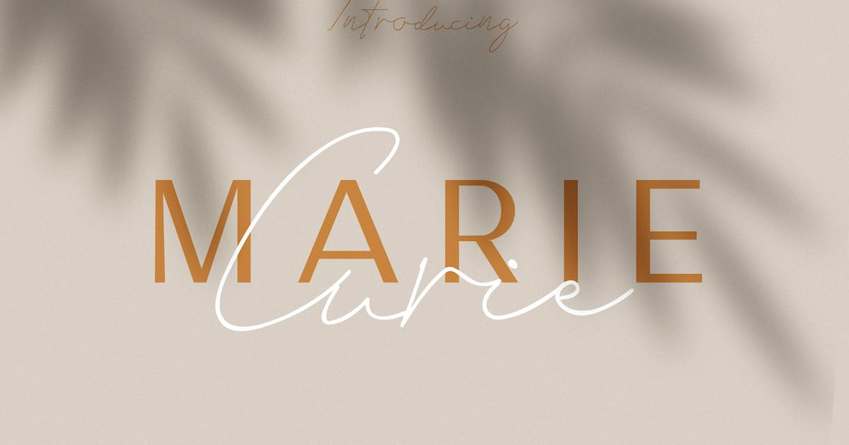 Download Marie Curie - Sans & Script by andrewtimothy