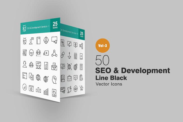 Thumbnail for 50 SEO & Development Line Icons