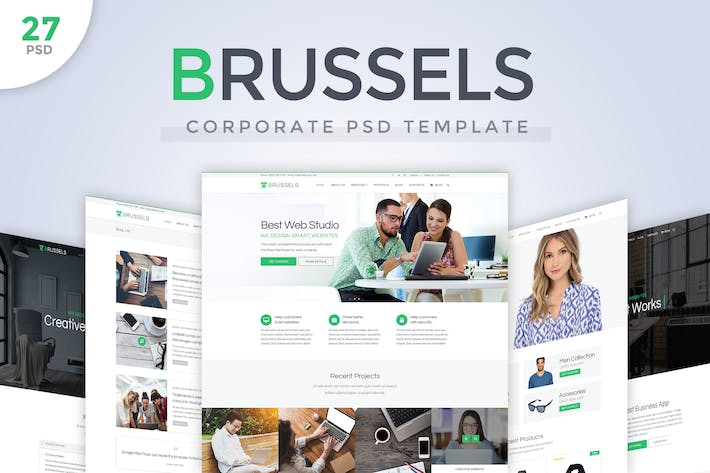 Thumbnail for Brussels - Corporate PSD Template