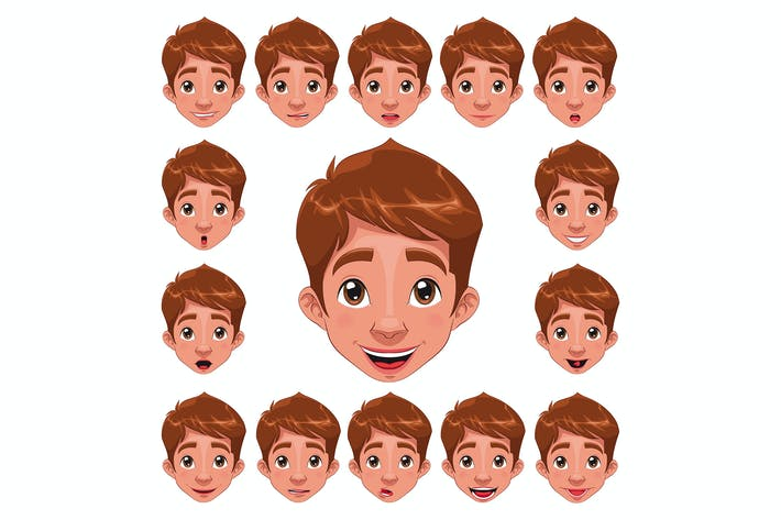 Boy Expressions with lip sync