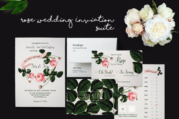 Thumbnail for DIY Rose Wedding Invitation Suite