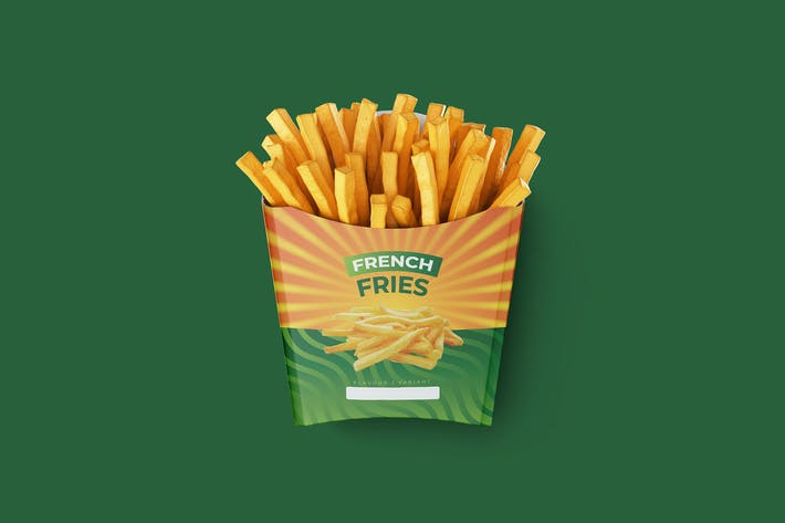 Thumbnail for French Fries Container Design