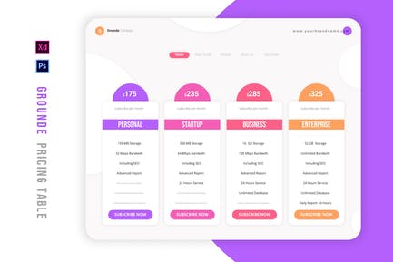 Grounde   Pricing Table