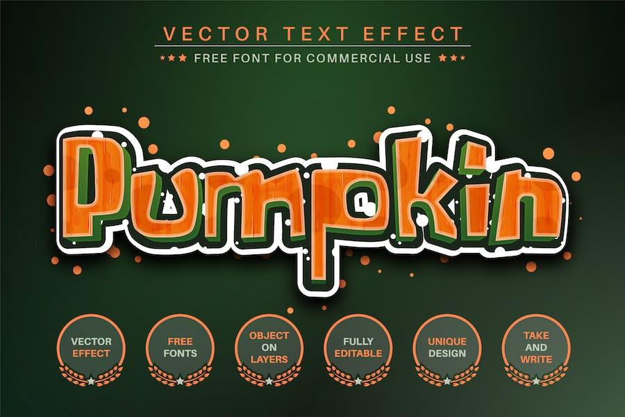 Pumpkin -  Editable Text Effect, Font Style