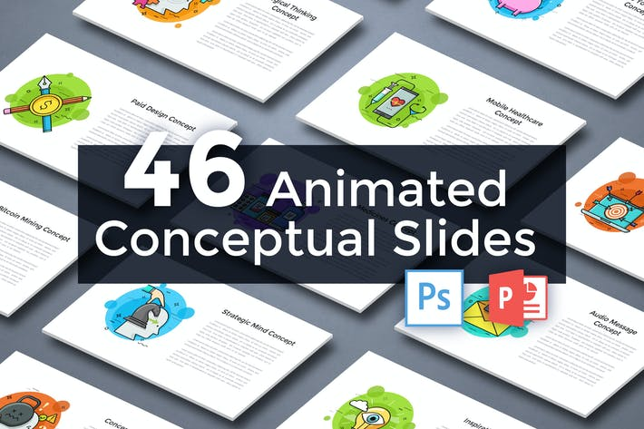 Thumbnail for 46 Animated Conceptual Slides for Powerpoint p.6