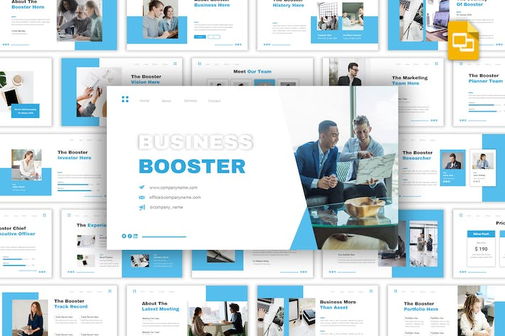 Thumbnail for Business Booster - многоцелевые слайды Google