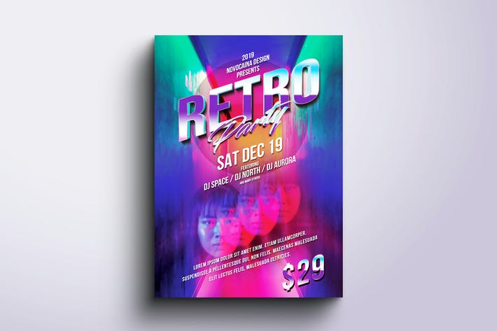Thumbnail for Retro Party Flyer & Poster