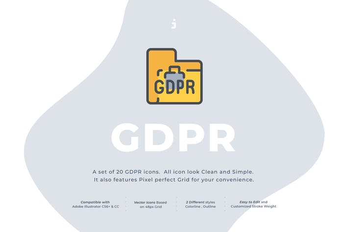 Thumbnail for 20 GDPR icon set