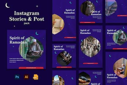 Spirit of Ramadhan Instagram Stories & Post Pack