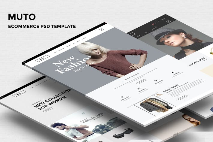 Thumbnail for MUTO - Ecommerce PSD Template
