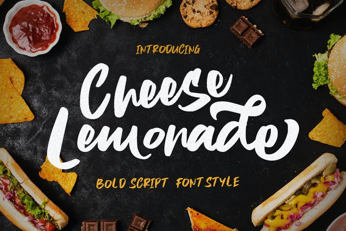 Thumbnail for Cheese Lemonade - Script Brush Stylist Food