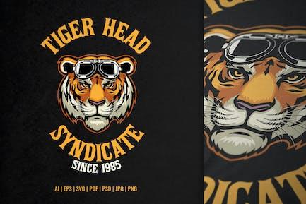 Tiger Head Wearing Goggle Design