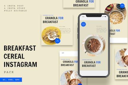 Breakfast Cereal Instagram Pack