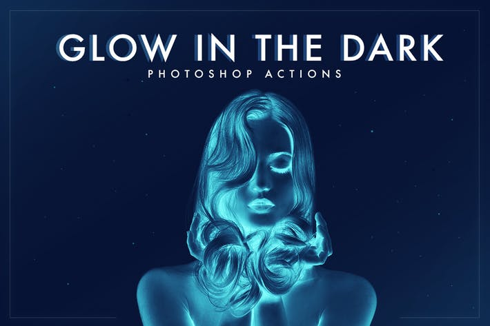 Cover Image For Glow in the dark Photoshop Actions