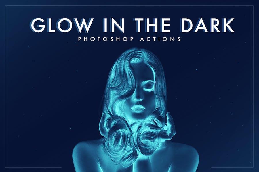 Свечение в темноте действия Photoshop